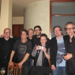 Skuli Sverisson (bass), Lou Reed (guitar), Brad Hampton (tour manager), myself, Laurie Anderson (voice, electronics), Bill Berger (lights/production), Peter Scherer (keys)